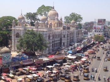 Ayurvedic hospital seen from Charminar