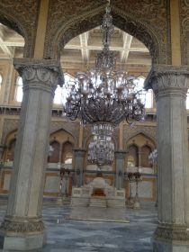 The grand Durbar hall at Chowmahalla Palace
