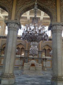 The grand Durbar hall at Chowmahalla Palace