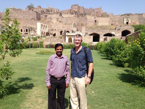 Ross and Mr Kumar at Golconda