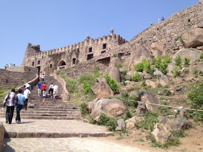 The staircase up to the Fort