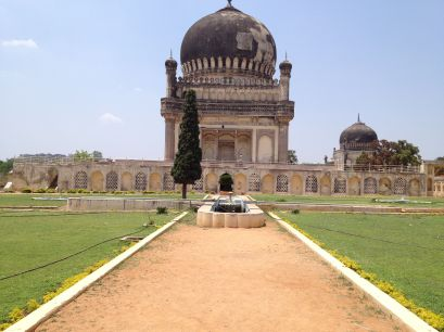 the Taj Mahal of Hyderabad - tomb of Mohammed Qutb Quli Shah, the founder of Hyderbad