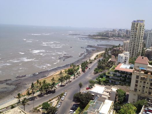 view from Bandra apartment