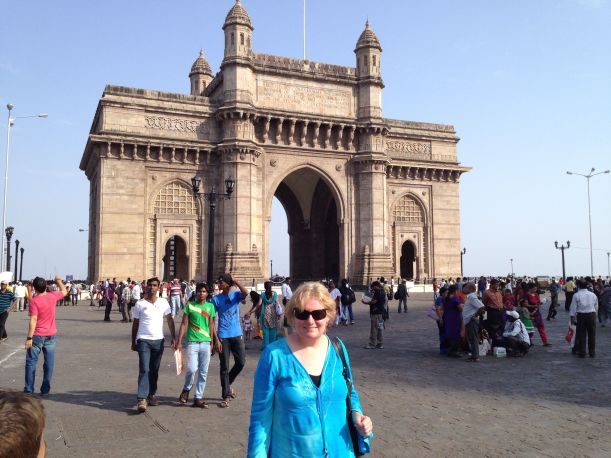 Cindy at the Gateway to India