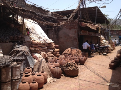 Pots drying in the GUjerati area
