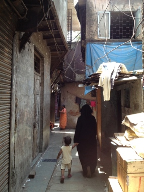 a rather wider slum street!