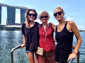 with Charlie and Kim on the bum-boat tour (had a had cut after I saw this!)