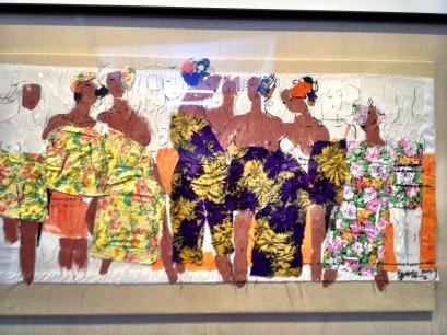 Ju Ming collage, part of  Rippling Roaming Emanating exhibit
