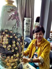 The 80 year-old, with her gorgeous vase