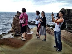 My tour group by the Nanya rock formations...