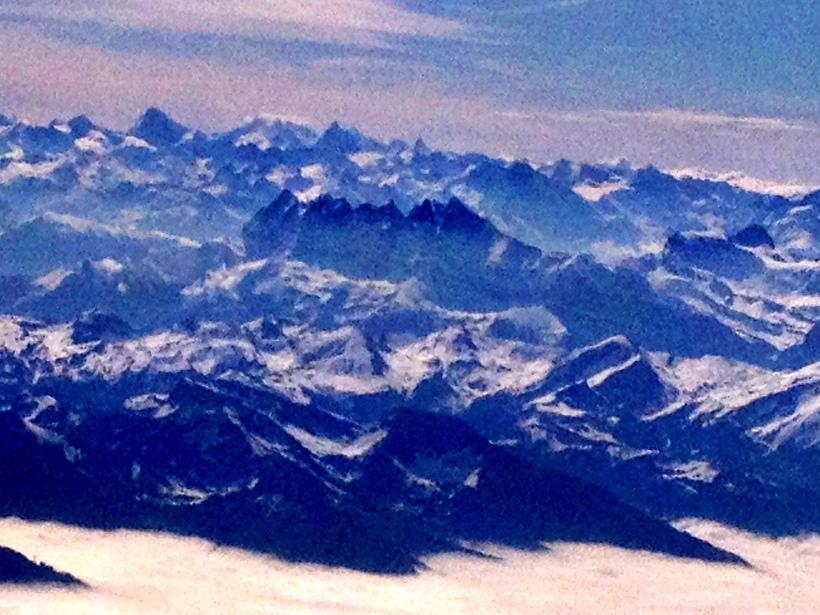 The Dents du Midi - and CHampery -  from Finnair