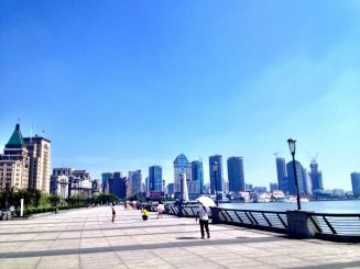 The extraordinary skyline on the BUnd