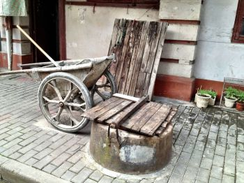 Wells are still in use for washing water in some areas of the French Concession