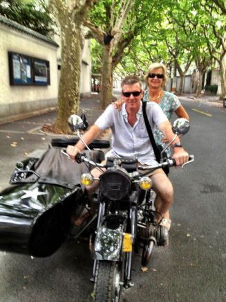 on the side-car in the French Concession