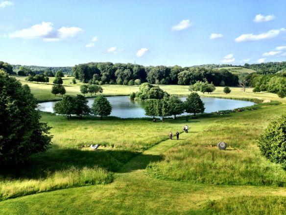 Looking out over the lake at Garsington, at Wormsley