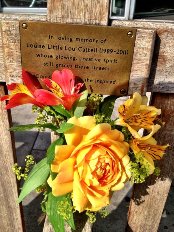 The beautiful roses that Felcity KEndal gave us when Louise died - what better place to put it?