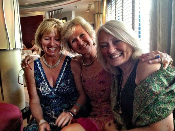 the girls at Petrus - Hilary, Fi and me...