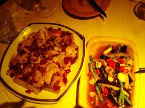 prawns and mixed veg