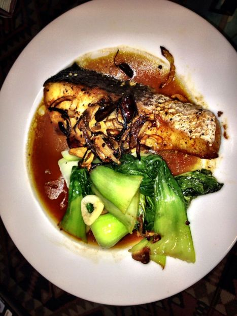 Roasted hot, sweet, and sour fish