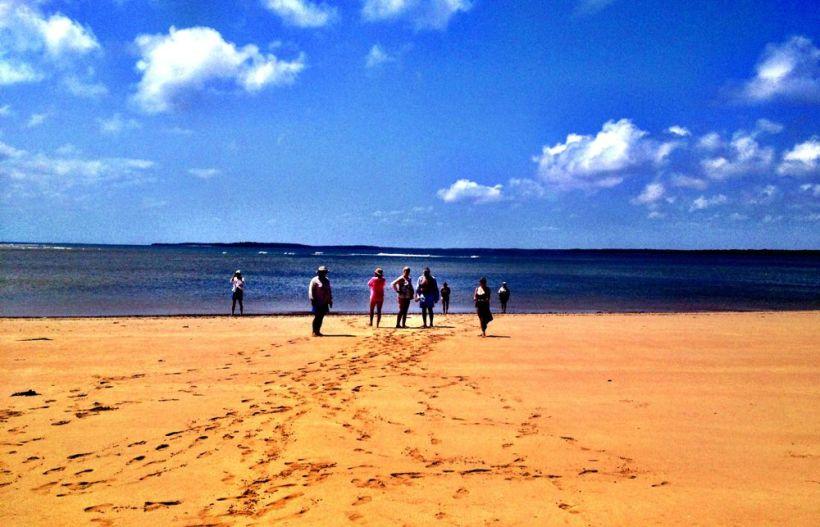 Afterwards on the beach