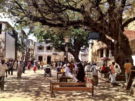 The main square by the old fort/prison
