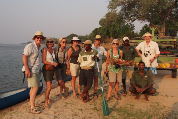 TEam canoeing: Ross, Fi, CHristine,Annie, Reuben (leader) Jean, me, Siraaj