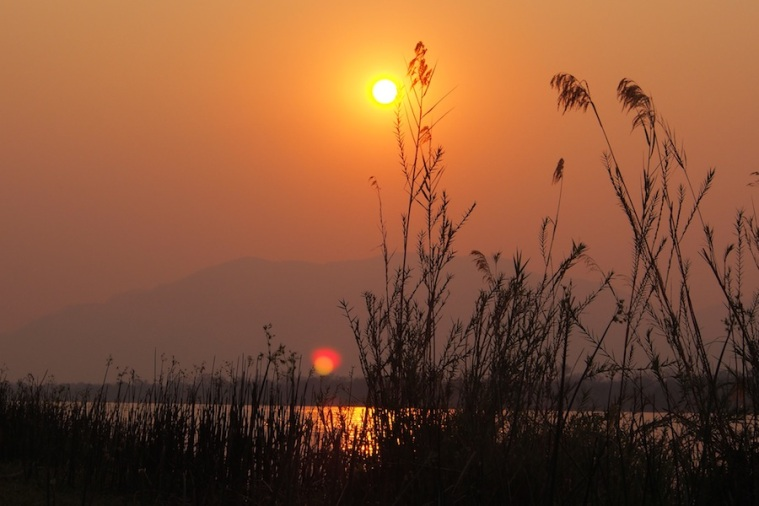 Sunset over the Zambezi...