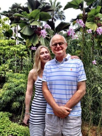 Mr and Mrs B enjoying the Orchid Garden