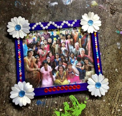 Photo frames made by the older girls
