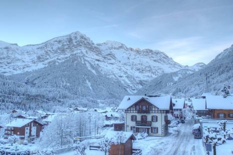 Champery is as pretty as a picture in the snow!