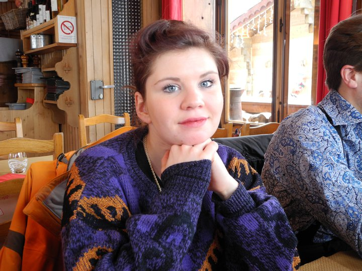 Louise in her New Look jumper on Christmas Day 2010