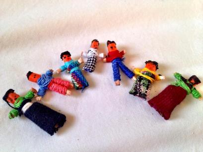 my Mayan worry family, given to me by Oliva