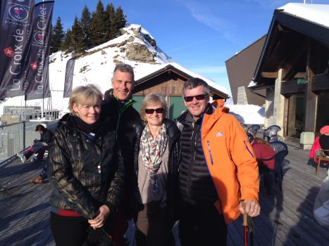 With Ann and David Mitchell at the Croix de Culet