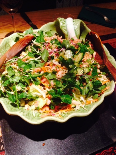 Organic cabbage salad (Vietnamese)