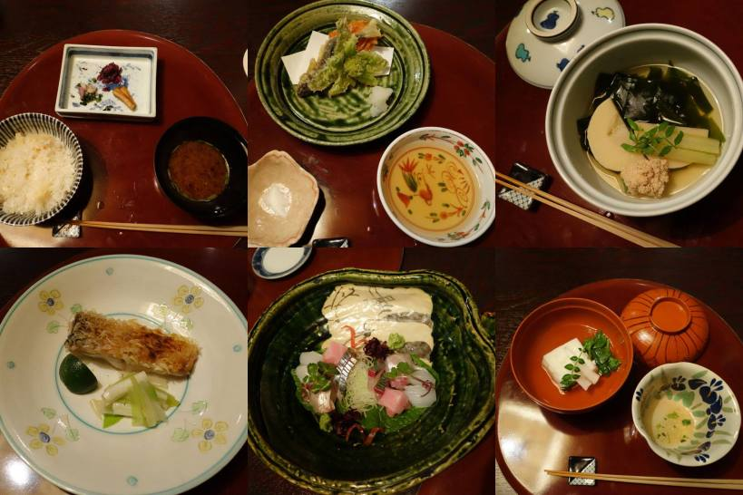 Our delicious kaiseki meal