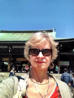 Selfie at the Meiji shrine (resort to this when not talking to fellow bus members!)