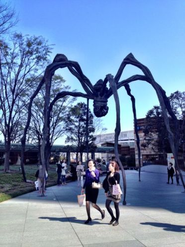 One of Louise Bourgeois's spiders in the Roppongi mall