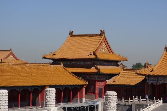 Golden roofs of the \Forbidden City