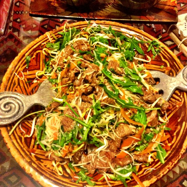 The first thing I did with the B12 news was to make a Vietnamese beef salad