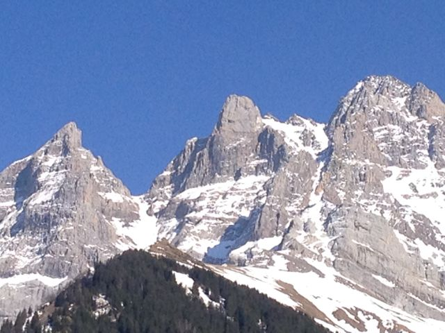 I never get tired of the hills 'from whence cometh my help':  those awesome Dents du Midi