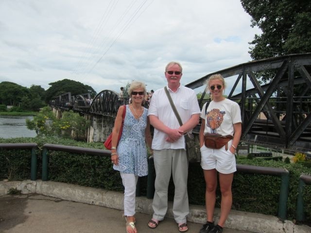 At the rIver Kwai with Patrick and Lylie