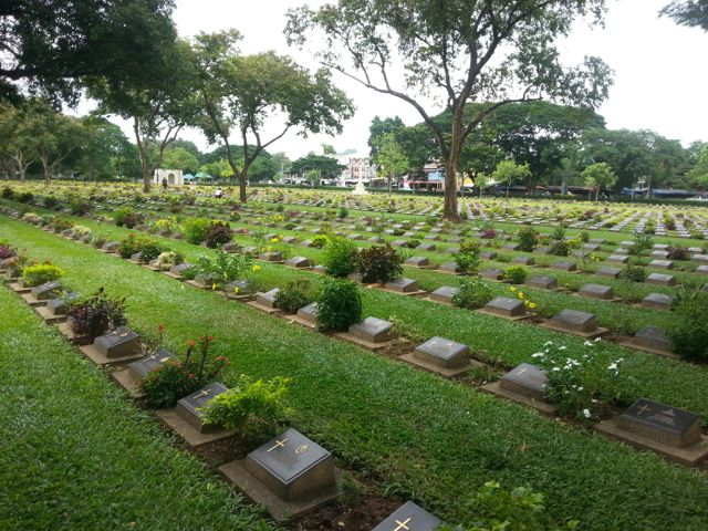 War cemetery at the Burmese Railway, Kanjanaburi