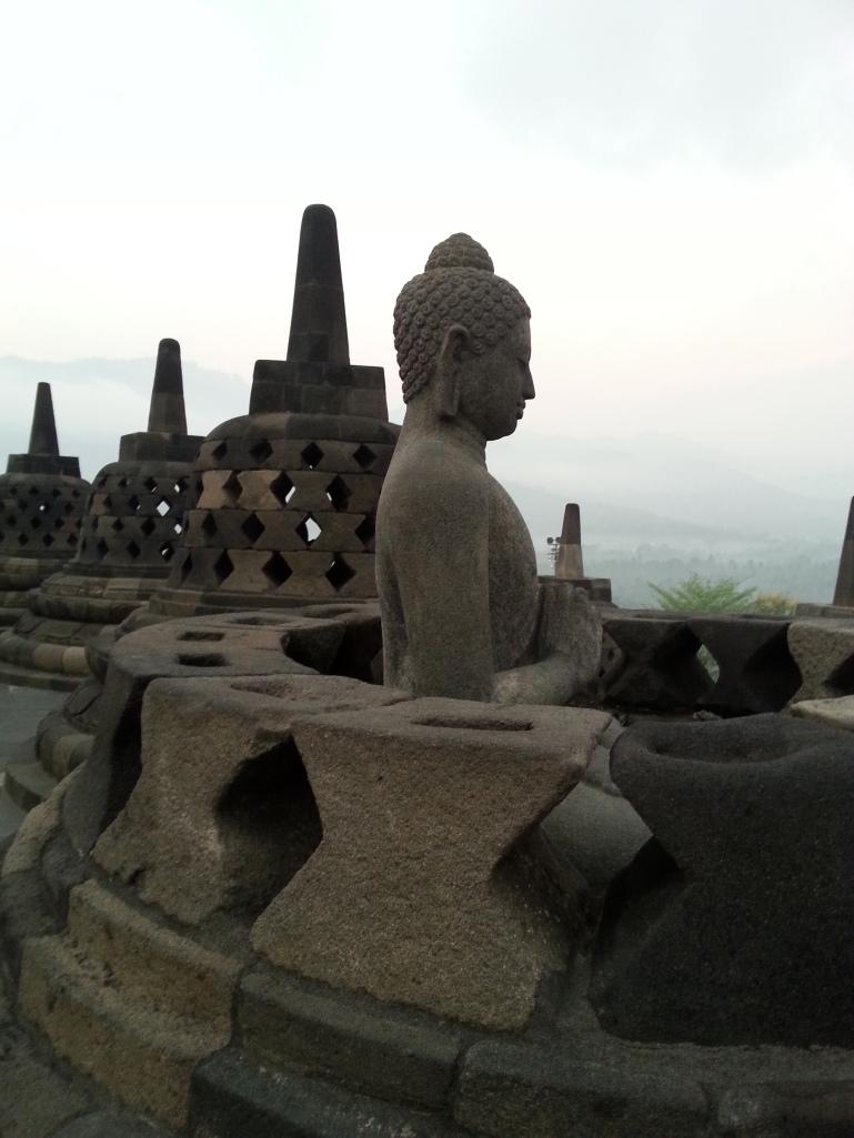 A stupa reveals its contents