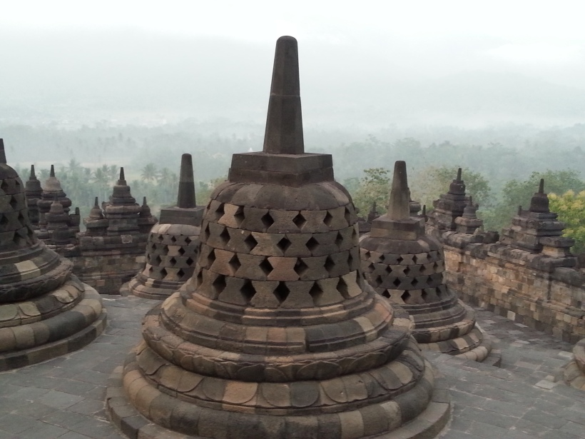 Hundreds of stupas