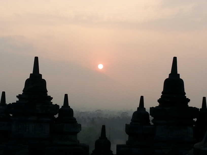 Indonesia: Borbudur at sunrise