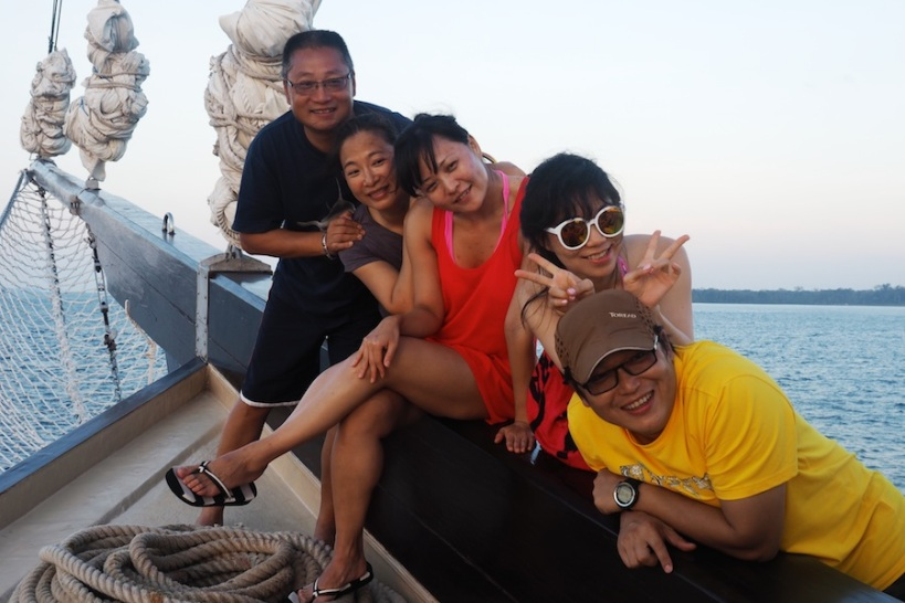The Chinese love posing for photos - Tony is a film director...