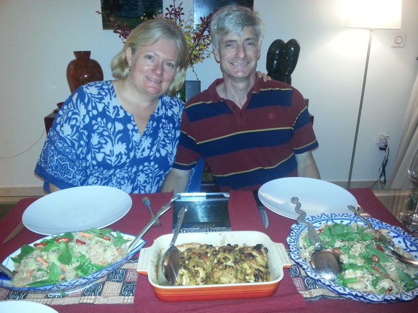 A feast for Cindy and Guy