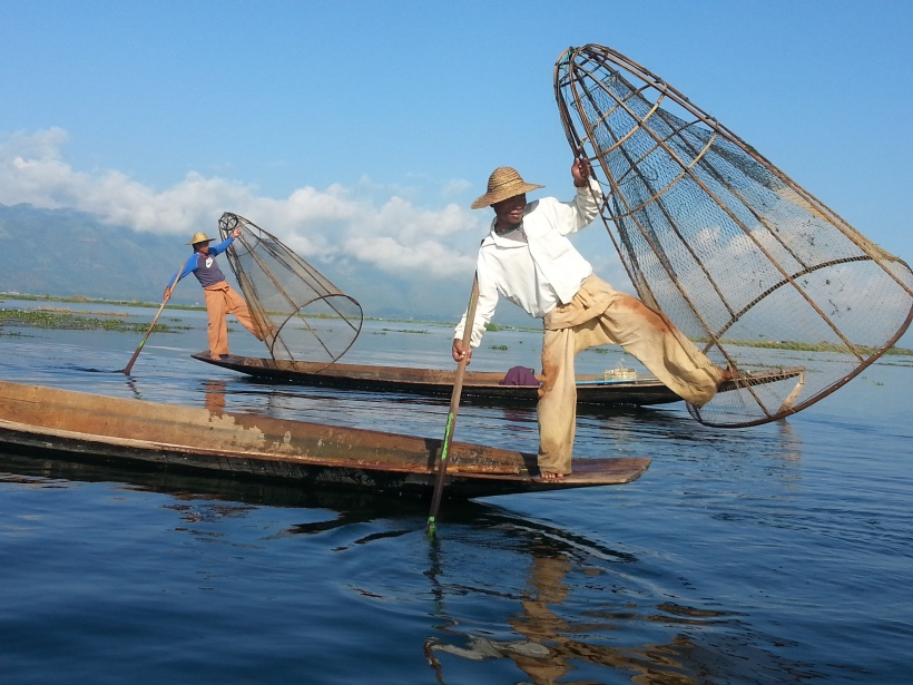 The classic shot - fishermen at Inle Lake