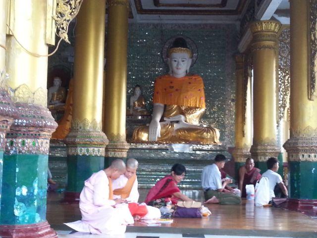 Nuns at the Shwedagong