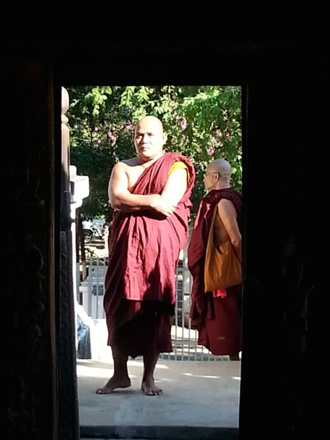 Monks love to visit the holy sites
